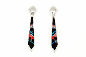 Elegant David Rosales Red Moon Earrings - Native American Jewelry