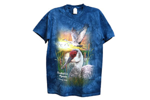Colorful Sandhill Crane T-Shirt - Kearney, NE