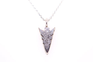 Silver Arrowhead Pendant by Gary Glandon