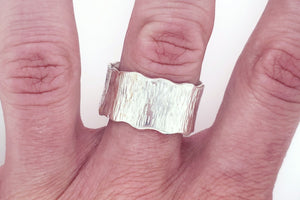 Textured Sterling Silver Ring - Stagecoach