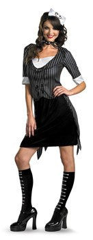 "Costume - Adult Sassy Jack Skellington Costume From ""The Nightmare Before Christmas"""