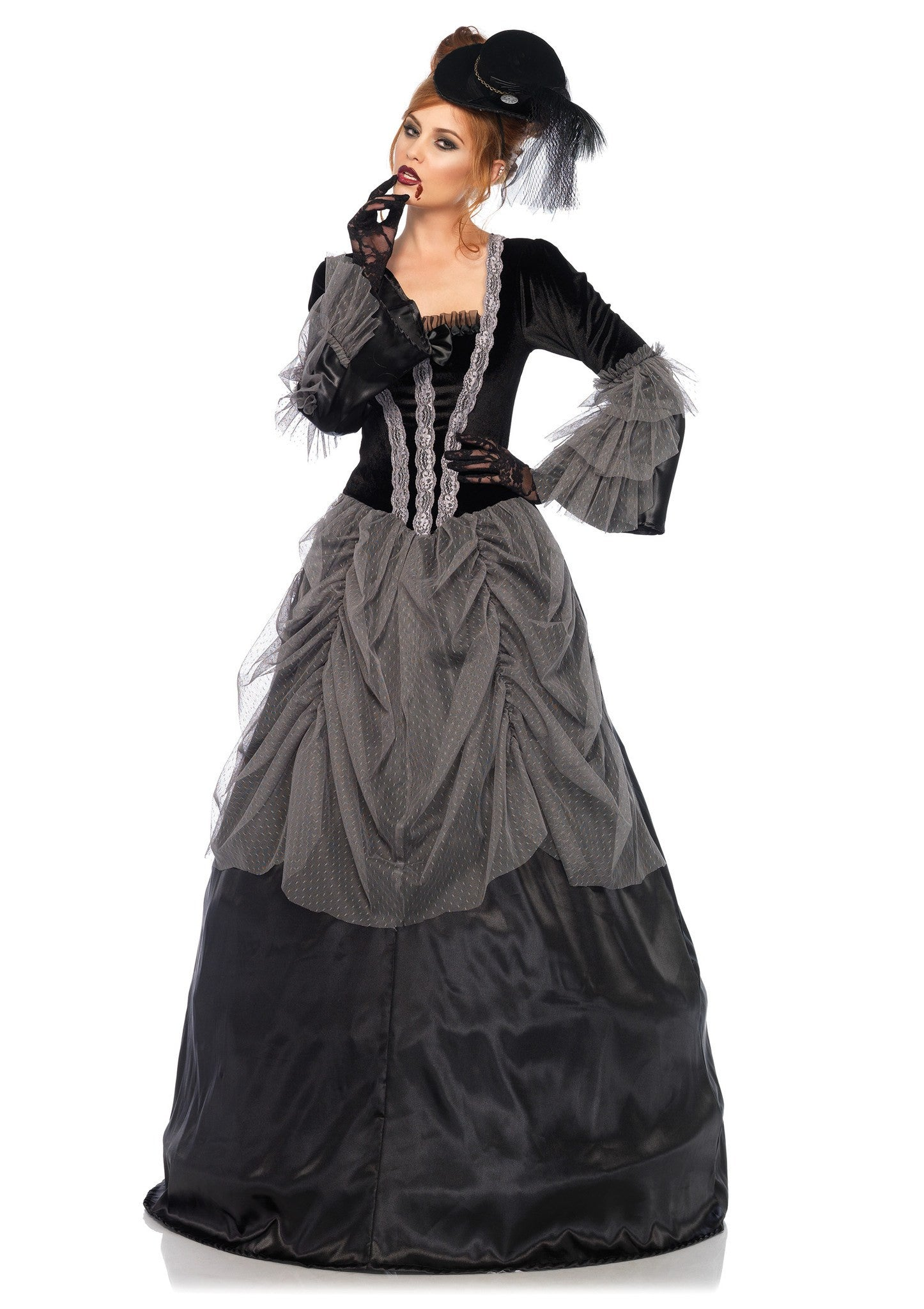 Velvet Victorian Ball Gown Costume - Stagecoach