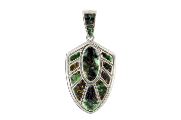 Variscite Pendant by David Rosales - Native American Jewelry