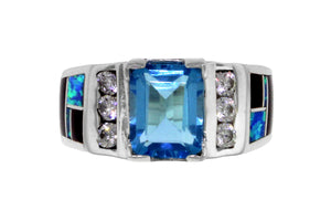 Native American Jewelry - Beautiful David Rosales Blue Topaz Ring