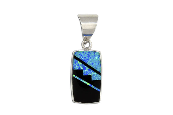 Native American Jewelry - Black Beauty Pendant by David Rosales