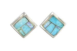 Amazing Light David Rosales Inlay Earrings - Native American Jewelry