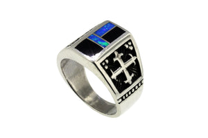 Native American Jewelry - David Rosales Black Beauty Men's Ring