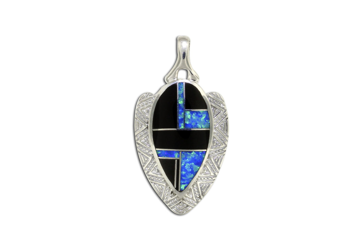 Native American Jewelry - David Rosales Black Beauty Pendant