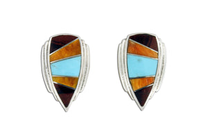 Native American Jewelry - David Rosales Copper Mountain Earrings