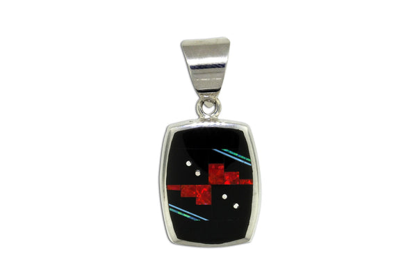 Native American Jewelry - David Rosales Mirrored Red Moon Pendant