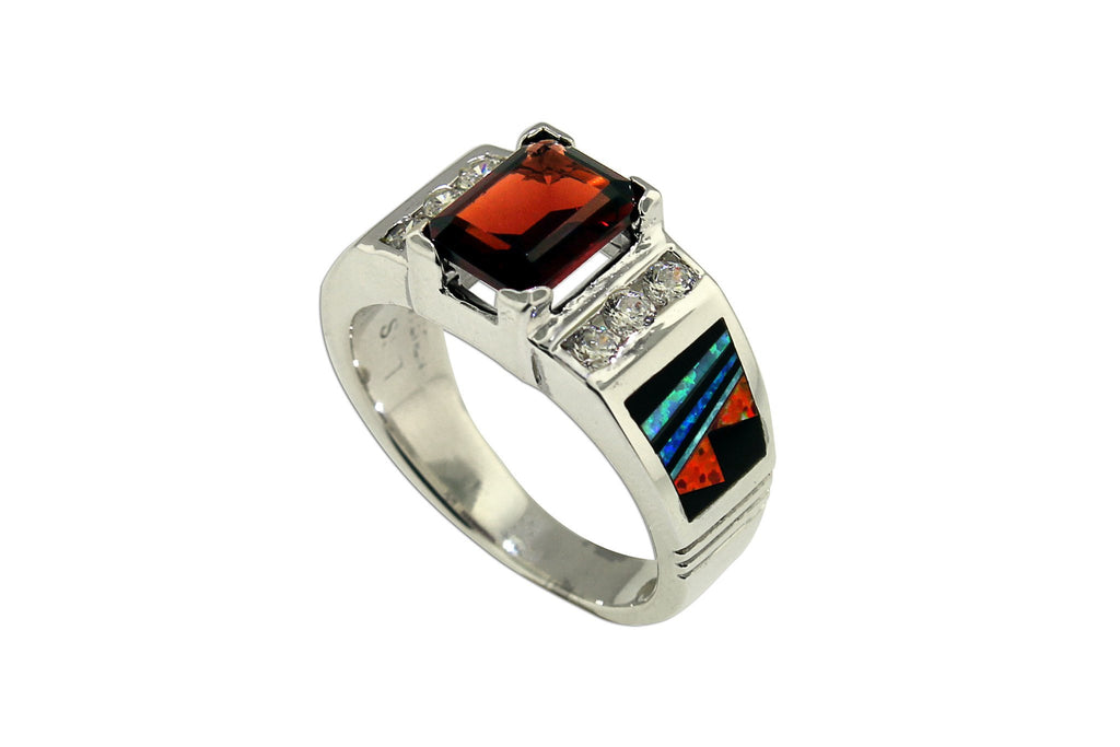 Jewelry - David Rosales Garnet And Opal Ring