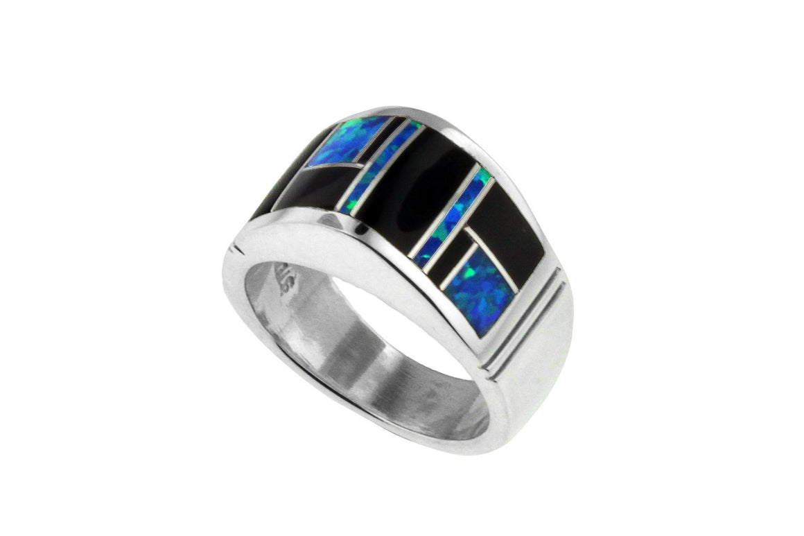 Native American Jewelry - David Rosales Domed Black Beauty Ring