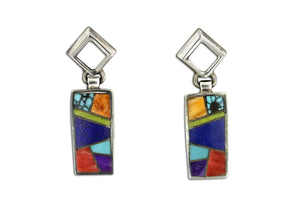 Native American Jewelry - David Rosales Indian Summer Earrings