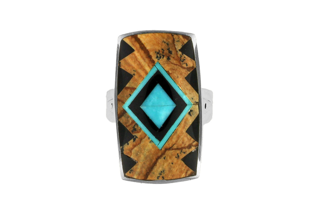 Jewelry - David Rosales Inlaid Native American Ring