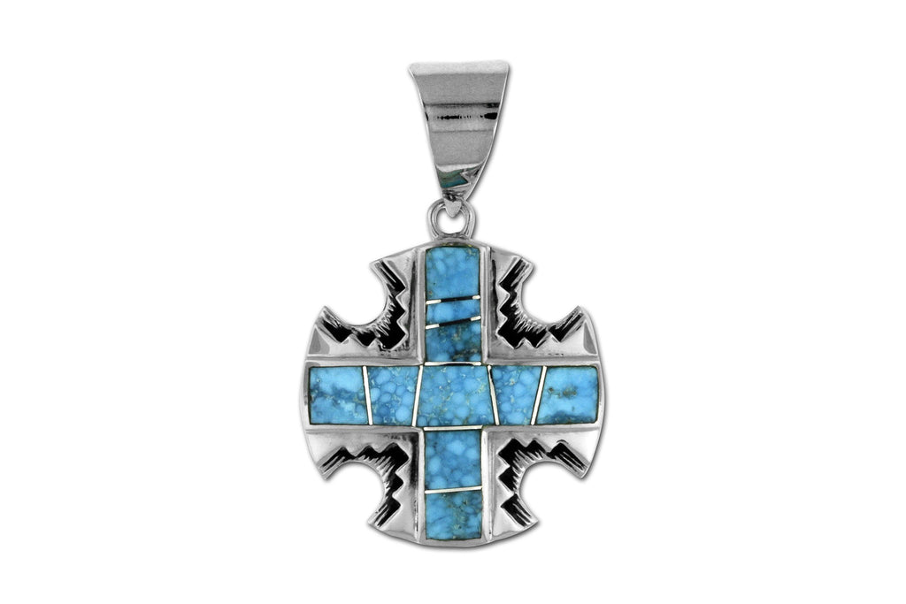 Jewelry - David Rosales Kingman Turquoise Cross Pendant