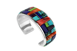 Native American Jewelry - Colorful David Rosales Men's Bracelet