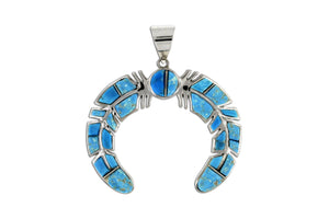 David Rosales Naja Pendant - Native American Turquoise Jewelry