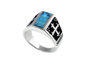 David Rosales Men's Turquoise Ring - Turquoise Jewelry