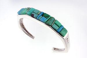 Native American Jewelry - David Rosales Pine Hill Inlaid Bracelet