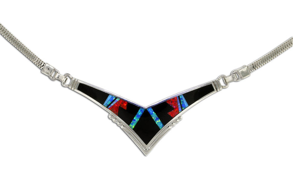 Native American Jewelry - David Rosales Red Moon Necklace