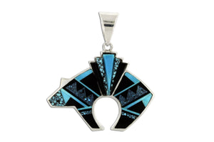 Reversible Bear Pendant - Shadow Peak Collection - Native American Jewelry
