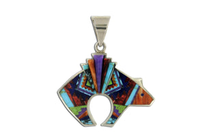 Native American Jewelry - David Rosales Reversible Bear Pendant
