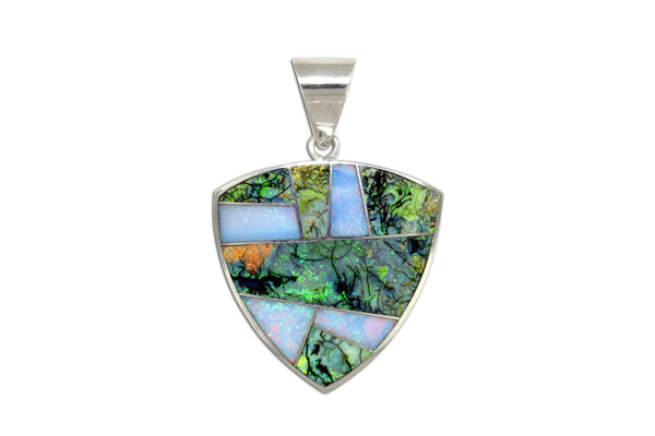 David Rosales Opal Pendant - Native American Jewelry