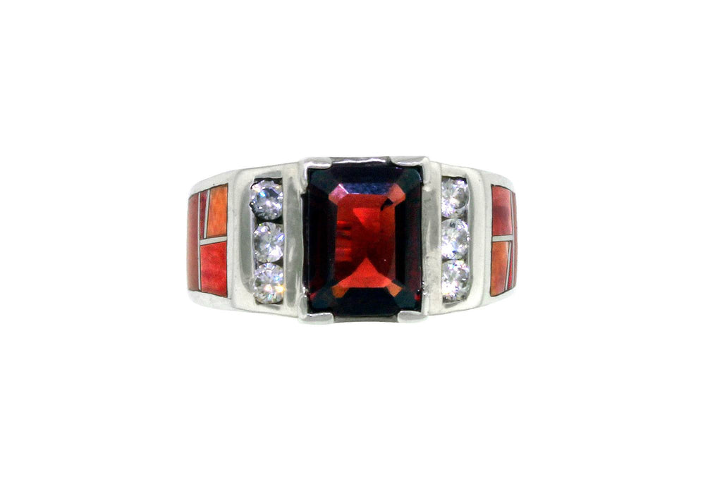 Jewelry - David Rosales Spiny Oyster & Garnet Ring