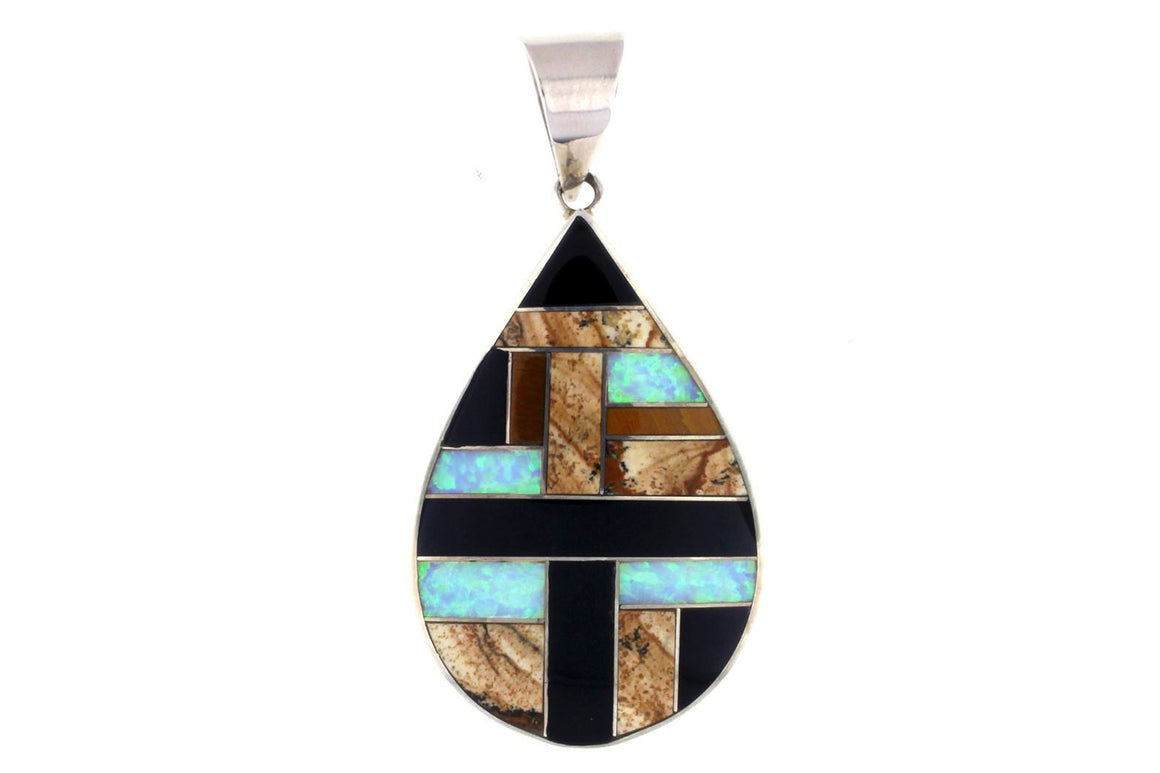 Native American Jewelry - David Rosales Teardrop Pendant