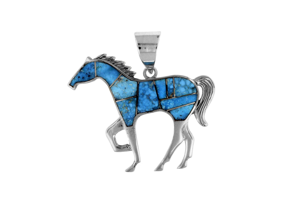 Native American Turquoise Jewelry - David Rosales Horse Pendant