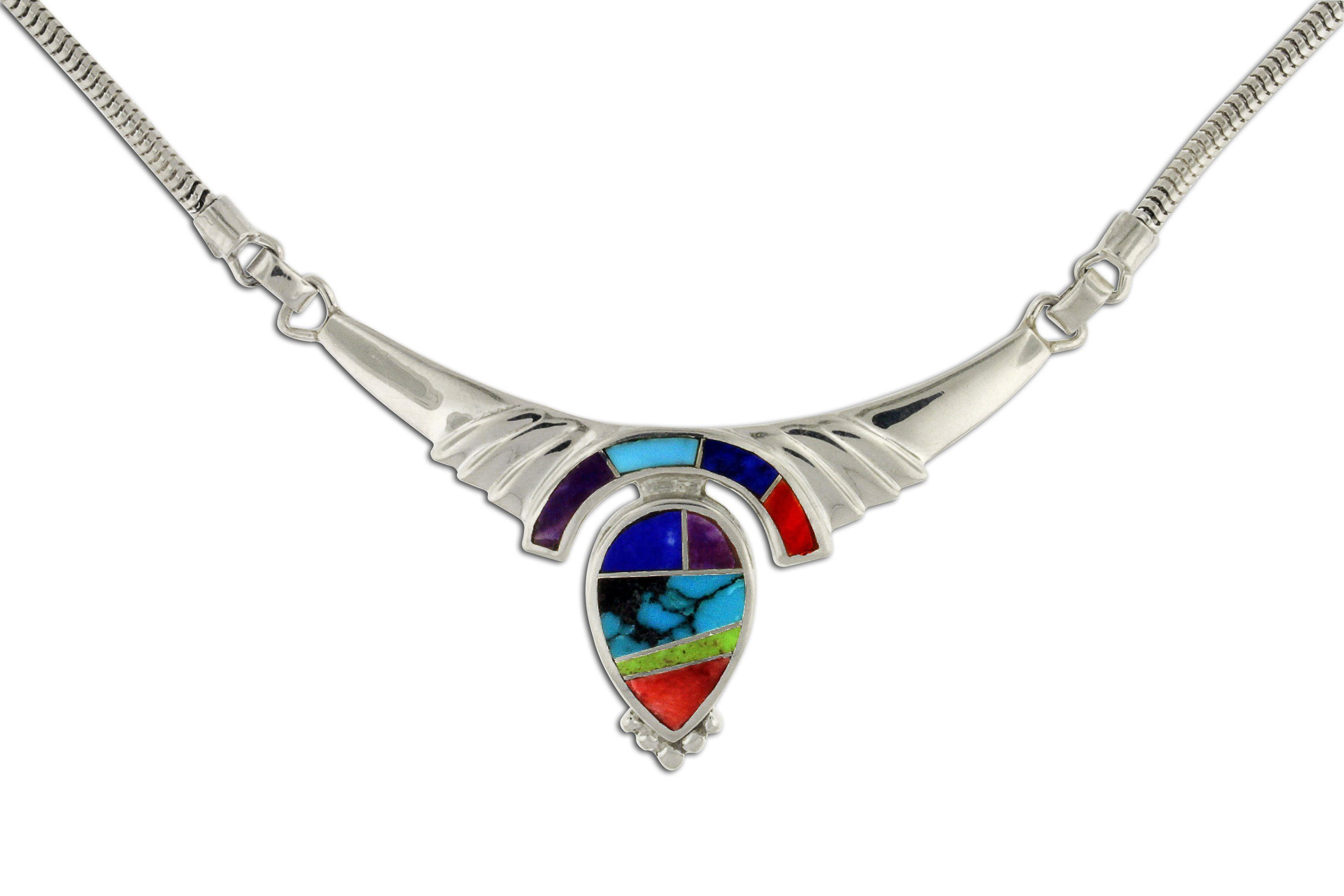silver spencer click eagle item sterling full necklace winged turquoise harry expand to