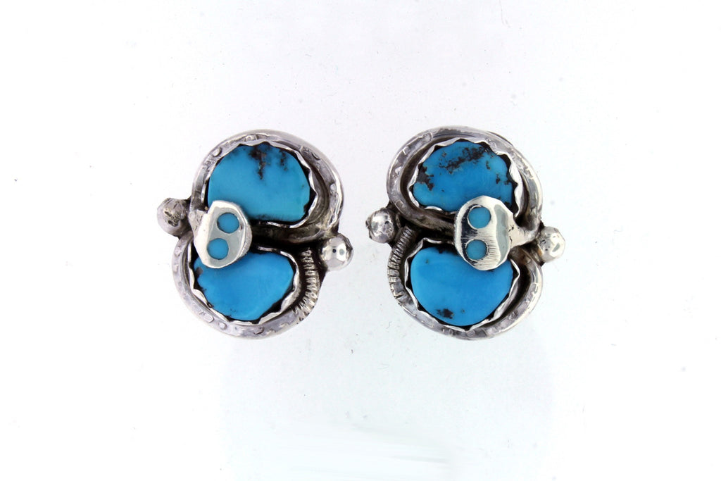 Jewelry - Effie Calavaza Sterling Silver Turquoise Earrings