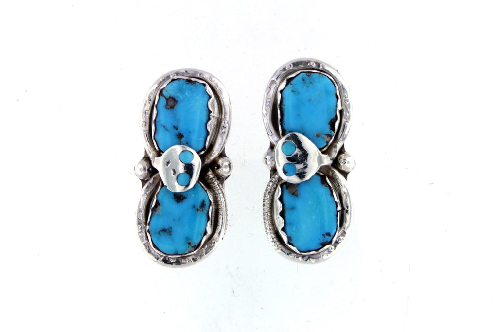 Native American Turquoise Jewelry - Effie Calavaza Earrings