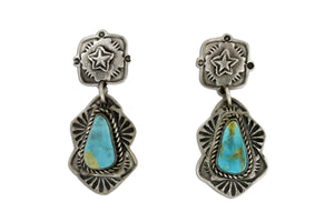 Elegant Ranch Turquoise Earrings - Native American Turquoise Jewelry