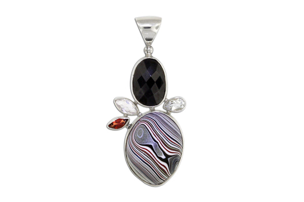 Fordite Car Paint Pendant - Fordite Jewelry