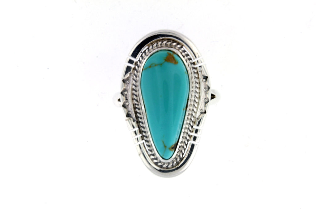 Jewelry - King Manassa Sterling Silver Turquoise Ring