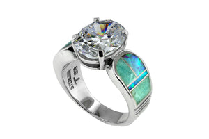David Rosales Amazing Light CZ Ring - Native American Jewelry