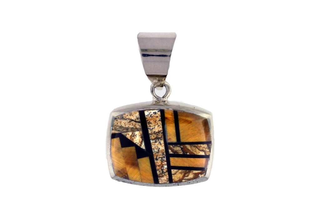 Jewelry - Native Earth Inlaid Sterling Silver Pendant