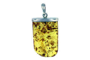 Pretty Amber Pendant With Sterling Silver Bail