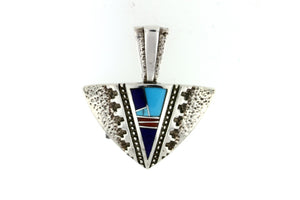 David Rosales Turquoise Arrow Pendant - Native American Jewelry