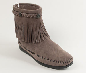 Moccasin - Hi Top Back Zip Boot