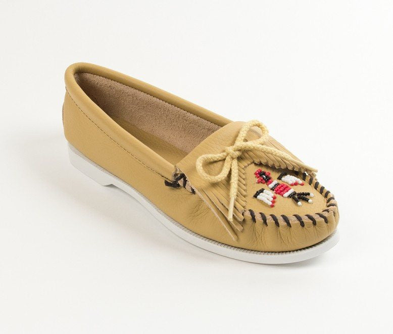 Moccasin - Minnetonka Thunderbird Boat Sole Moccasin In Smooth Leather
