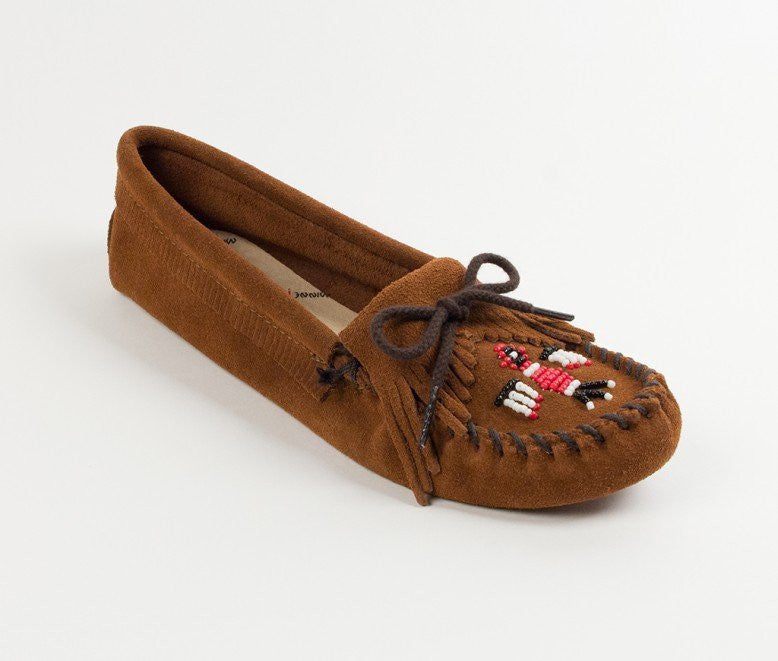Moccasin - Thunderbird Softsole In Suede By Minnetonka