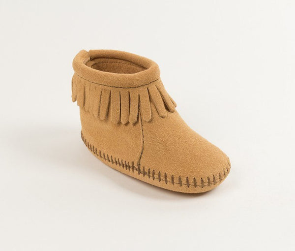 Moccasin - Velcro Back Flap Bootie