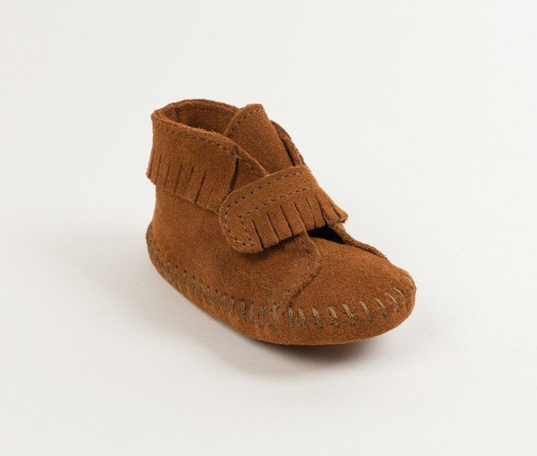 Moccasin - Velcro Front Strap Bootie