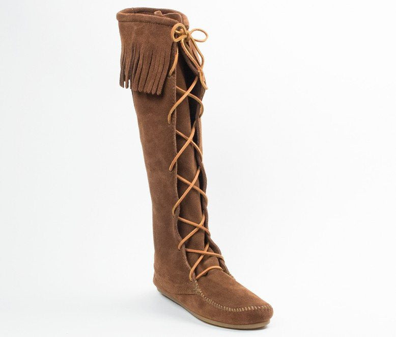 Moccasin - Women's Front Lace Hardsole Knee Hi Boot