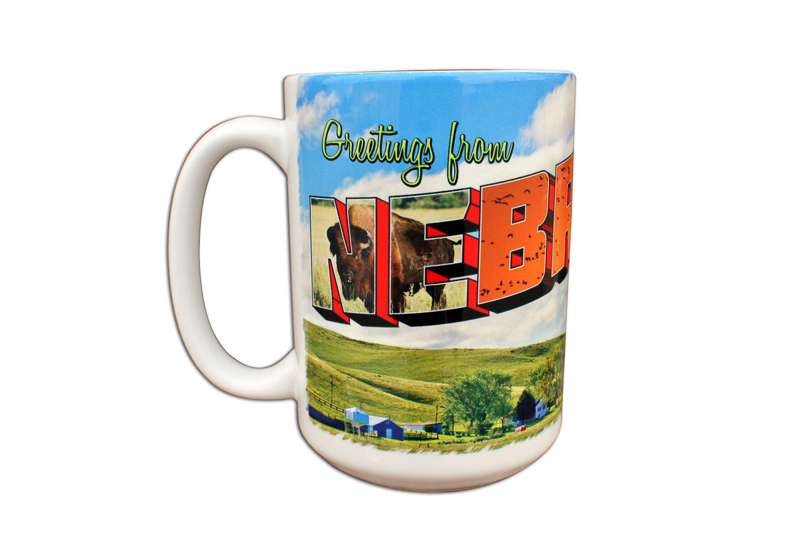 Souvenir - Greetings From Nebraska Coffee Mug