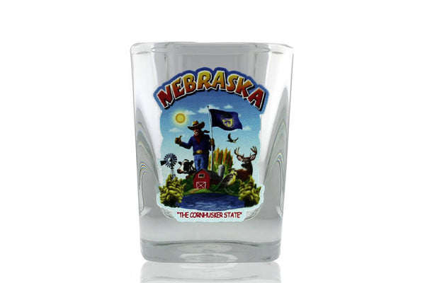 "Souvenir - Nebraska ""The Cornhusker State"" Shot Glass"