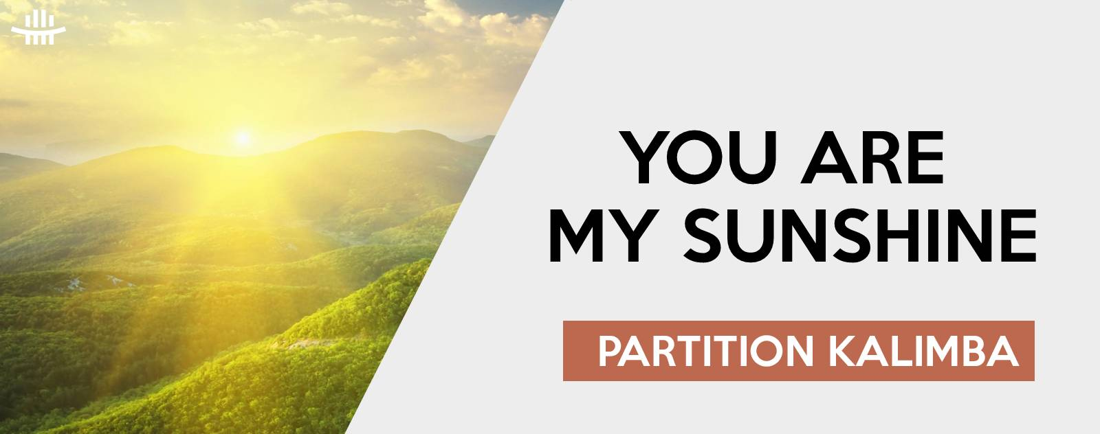 You are my sunshine | Partition kalimba