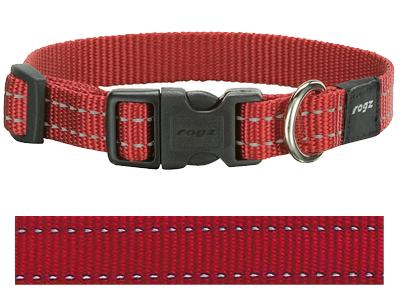 Rogz For Dogs Snake Halsband Rood 16 MMX26-40 CM